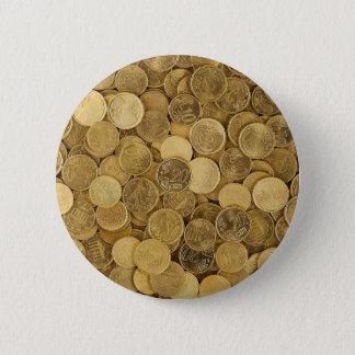 Bóton Redondo 5.08cm O euro inventa o mercado Europa do amarelo do
