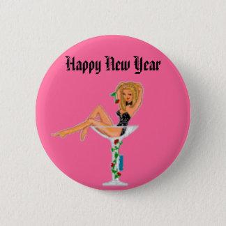 Bóton Redondo 5.08cm O feliz ano novo