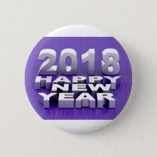 Bóton Redondo 5.08cm O feliz ano novo 2018