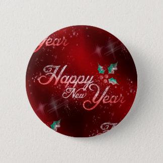 Bóton Redondo 5.08cm o feliz ano novo do azevinho