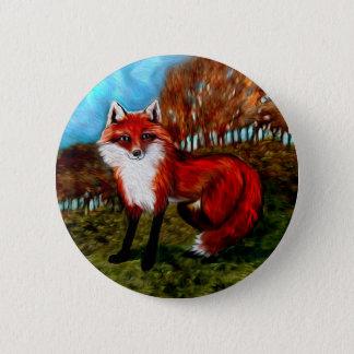 Bóton Redondo 5.08cm O Fox vermelho Foxes o botão dos animais dos