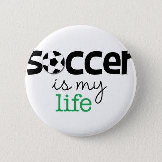 Bóton Redondo 5.08cm O futebol é minha vida