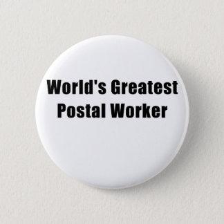 Bóton Redondo 5.08cm O grande trabalhador postal dos mundos