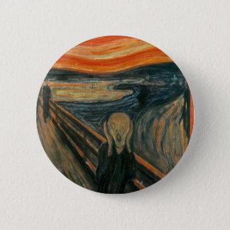Bóton Redondo 5.08cm O gritar - Edvard Munch. Arte finala da pintura