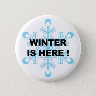 Bóton Redondo 5.08cm O inverno está aqui! Floco de neve liberal