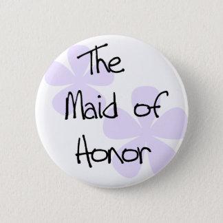 Bóton Redondo 5.08cm O Lilac floresce a madrinha de casamento