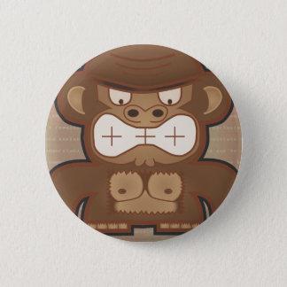 Bóton Redondo 5.08cm O macaco irritado do asno - silenciado