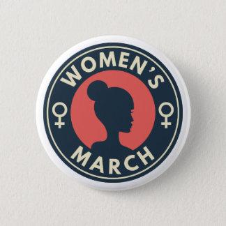 Bóton Redondo 5.08cm O março das mulheres