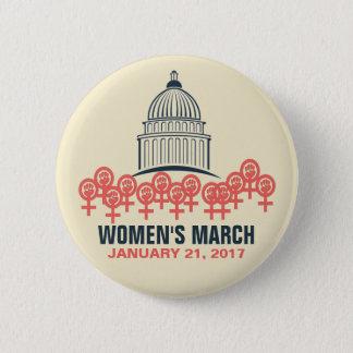 Bóton Redondo 5.08cm O março das mulheres na solidariedade de