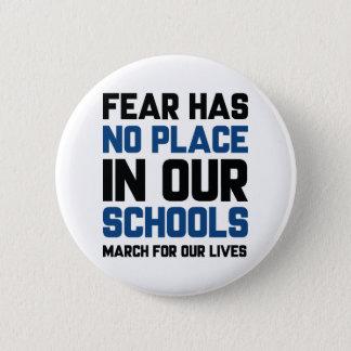 Bóton Redondo 5.08cm O medo não tem nenhum lugar em nossas escolas