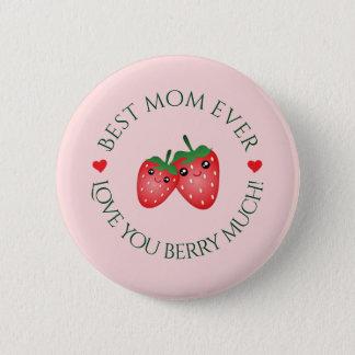 Bóton Redondo 5.08cm O melhor amor do dia das mães da mamã nunca você