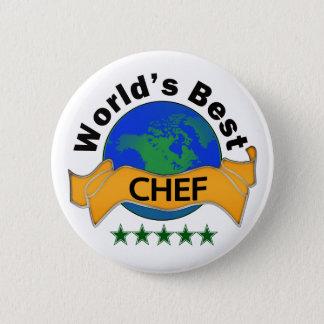 Bóton Redondo 5.08cm O melhor cozinheiro chefe do mundo