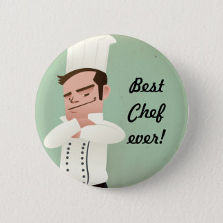 Bóton Redondo 5.08cm o melhor cozinheiro chefe nunca!