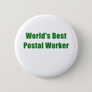 Bóton Redondo 5.08cm O melhor trabalhador postal dos mundos