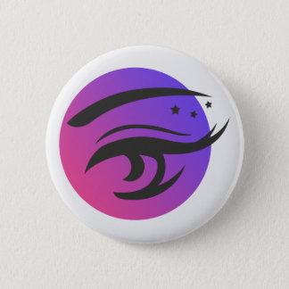 Bóton Redondo 5.08cm O olho chicoteia o botão redondo do logotipo do