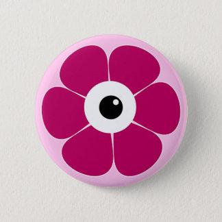 Bóton Redondo 5.08cm o olho da flor cor-de-rosa