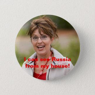 Bóton Redondo 5.08cm o palin 2 de sarah, eu posso ver Rússia de minha