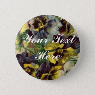 Bóton Redondo 5.08cm O Pin | do botão dos Pansies do Victorian