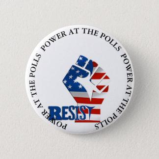 Bóton Redondo 5.08cm O poder nas votações resiste o botão do trunfo