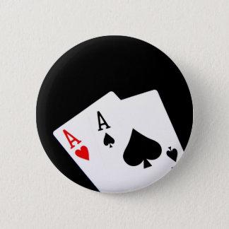 Bóton Redondo 5.08cm O póquer Aces o botão