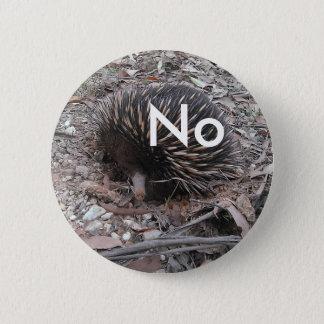 Bóton Redondo 5.08cm O porco- diz: Não