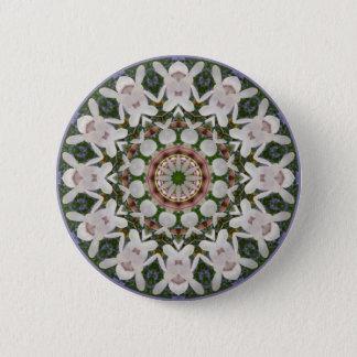 Bóton Redondo 5.08cm O primavera floresce 04,2, Flor-Mandala