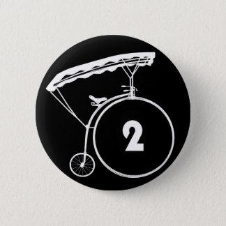 Bóton Redondo 5.08cm O prisioneiro número dois crachá de 2 botões