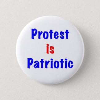 Bóton Redondo 5.08cm O protesto é patriótico