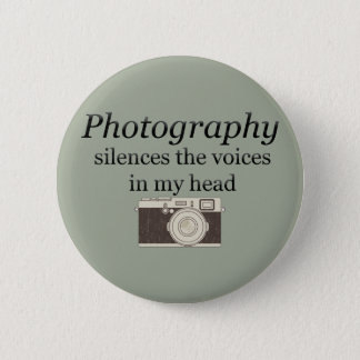 Bóton Redondo 5.08cm o pstvimhPhotography silencia as vozes em minha