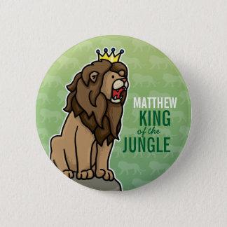 Bóton Redondo 5.08cm O rei do leão da selva, adiciona o nome da criança