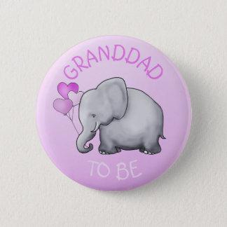 Bóton Redondo 5.08cm O rosa Balloons o elefante que o chá de fraldas