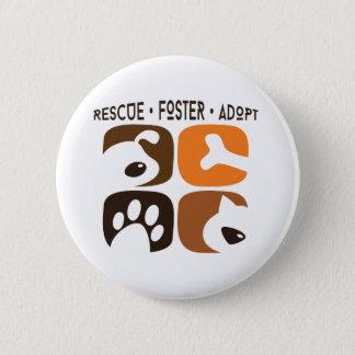 Bóton Redondo 5.08cm O salvamento adoptivo adota o botão do animal de