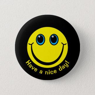 Bóton Redondo 5.08cm O smiley face tem um dia agradável