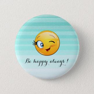 Bóton Redondo 5.08cm O smiley pisc adorável Emoji Cara-Está feliz