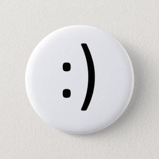 Bóton Redondo 5.08cm O sorriso esteja feliz