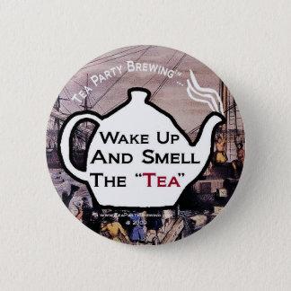 Bóton Redondo 5.08cm O tea party TP0112 acorda o cheiro o botão do chá