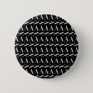 Bóton Redondo 5.08cm O teste padrão inicial do monograma, rotula A no