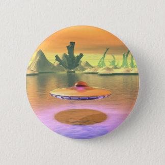 Bóton Redondo 5.08cm O UFO estrangeiro do lago descola o botão