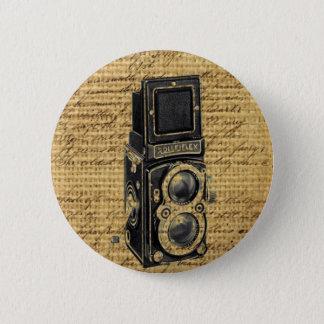 Bóton Redondo 5.08cm o vintage do steampunk scripts a câmera antiga de