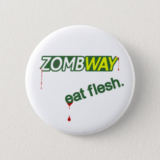Bóton Redondo 5.08cm O zombi Zombway come o botão de Pinback da carne
