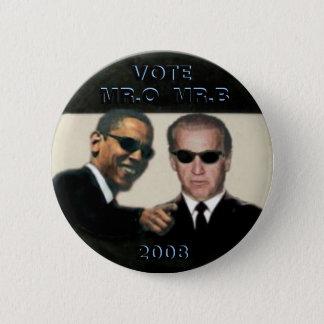 Bóton Redondo 5.08cm Obama/botão de Biden