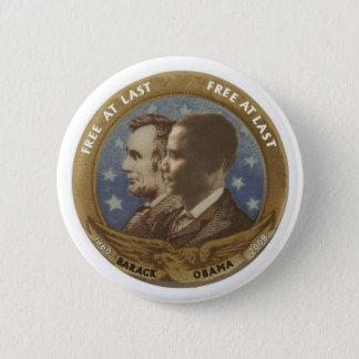 Bóton Redondo 5.08cm Obama e Lincoln