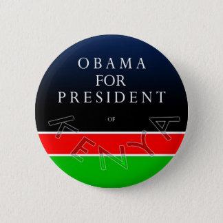 Bóton Redondo 5.08cm Obama para o presidente do botão de Kenya
