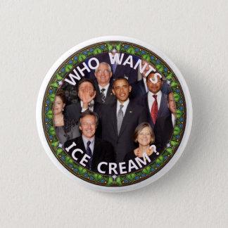 Bóton Redondo 5.08cm Obama quer o sorvete
