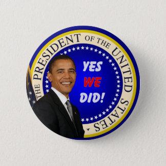 Bóton Redondo 5.08cm Obama - sim nós abotoamo-nos