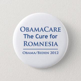 Bóton Redondo 5.08cm Obamacare é a cura para Romnesia!