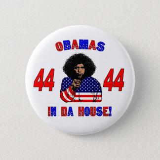 Bóton Redondo 5.08cm Obamas no botão da casa da Dinamarca