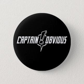 Bóton Redondo 5.08cm Obrigado, capitão Óbvio - botão