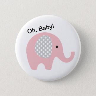 Bóton Redondo 5.08cm Oh, bebê! Botões com elefante