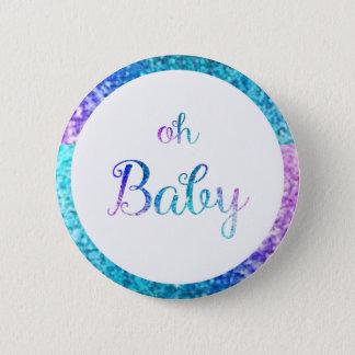 Bóton Redondo 5.08cm Oh botão do padrão do bebê
